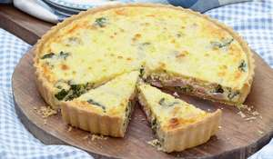 Spinach, Gruyère and ham quiche