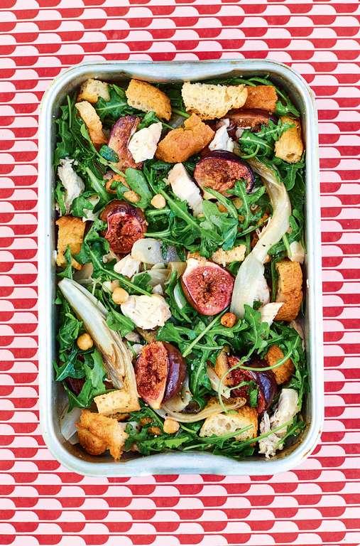 Roasted Fig, Chicory and Hazelnut Lunchbox Salad