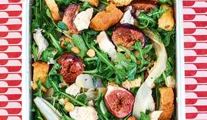 Roasted Fig, Chicory and Hazelnut Salad | Lunchbox Recipes
