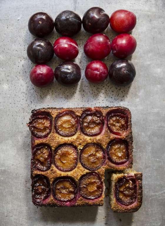 Quinoa, Plum and Cardamom Frangipane Pudding