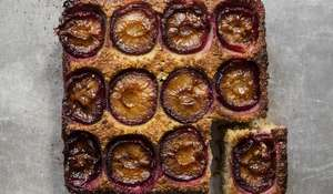Quinoa, Plum and Cardamom Frangipane Pudding