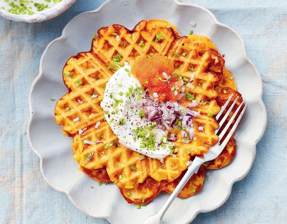 Rachel Khoo's Roasted Butternut Squash Waffles