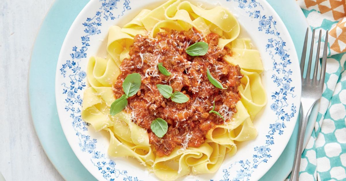 Ragù Bolognese with Pappardelle