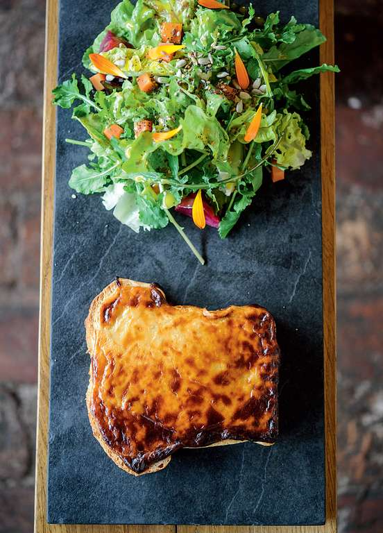 Caerphilly and Cider Welsh Rarebit