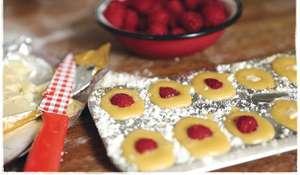 Raspberry and White Chocolate Madeleines