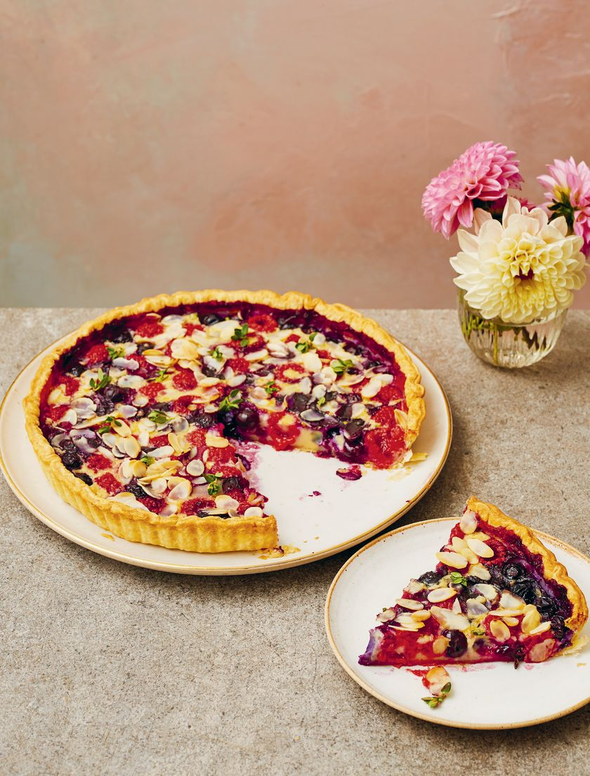 Candice Brown Comfort Food Recipes   Raspberry, Blueberry and Almond Clafoutart