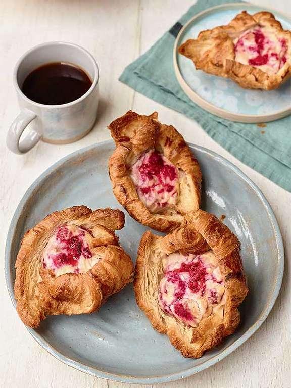 Nadiya Hussain's Raspberry Cheesecake Croissants