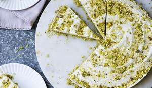 Dairy-free Raw Lemon 'Cheesecake' from Livia's Kitchen.