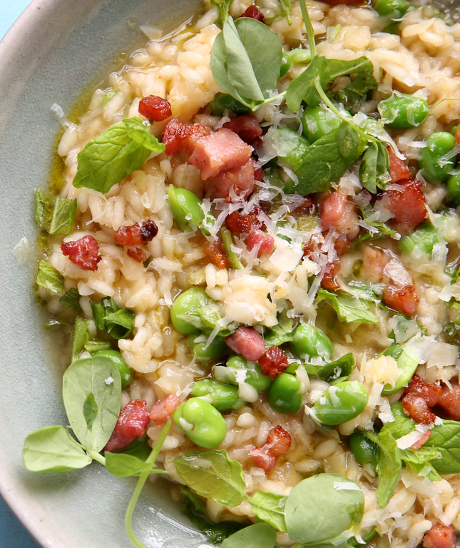 Broad Bean, Parmesan and Mint Risotto