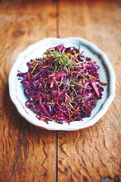 Red Cabbage Crispy Smoked Bacon & Rosemary, Apple, Fennel Seeds & Balsamic