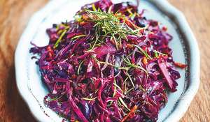 Jamie Oliver's Red Cabbage with Crispy Smoked Bacon