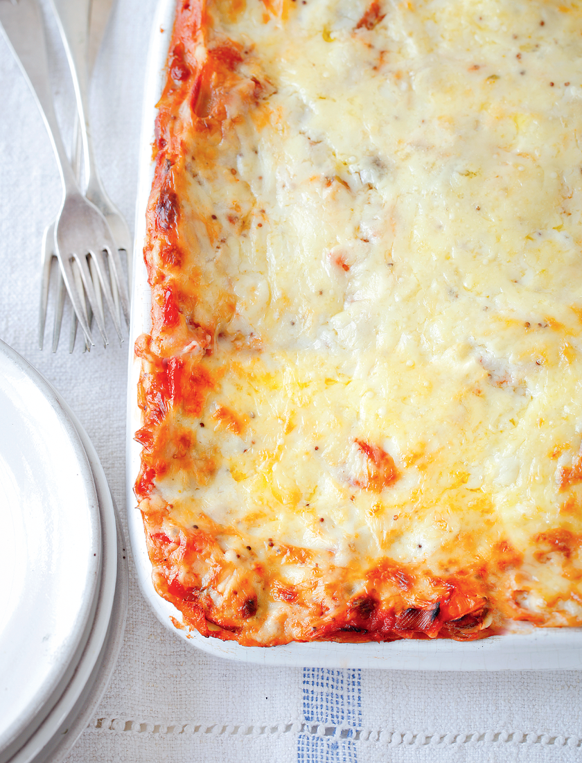 Red Pepper and Leek Lasagne