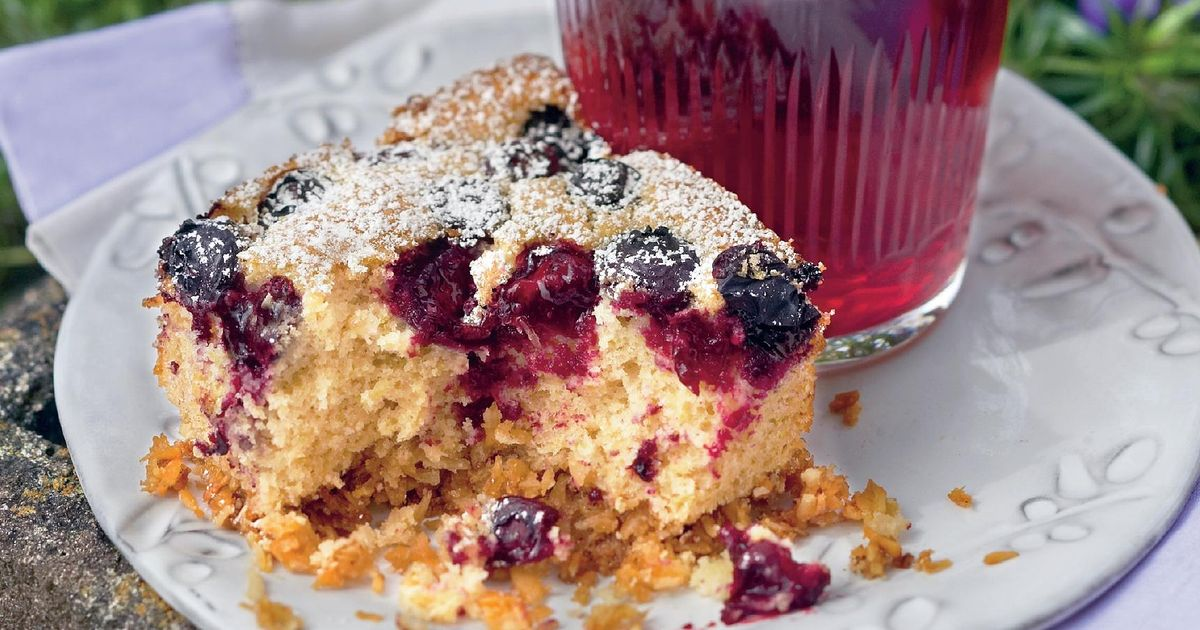 Red Velvet Cake Recipe Uk Mary Berry: Coconut, Lime And Blueberry Slice