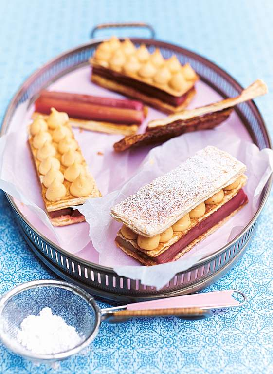 Rhubarb and Custard Millefeuilles