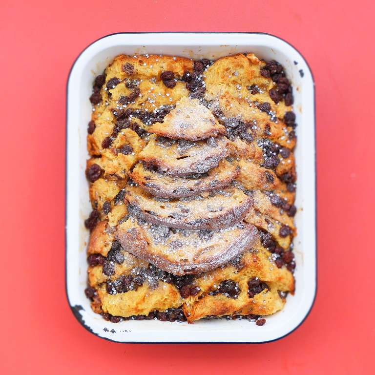 Boozy Panettone Bread and Butter Pudding