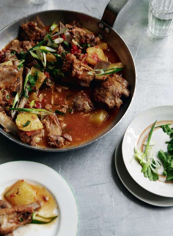Sweet and Sour Ribs with Pineapple Sauce