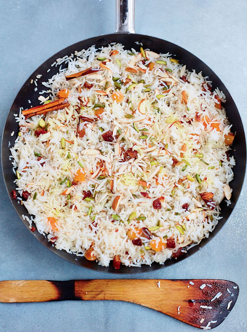 Easy Store Cupboard Rice Recipes | Meera Sodha Rice with Dried Fruit