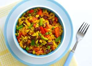 Sunshine Rice from Eat your Greens, Reds, Yellows and Purples
