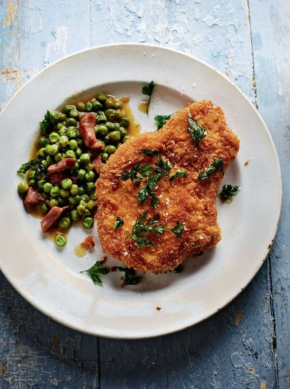 Rick Stein's Deep-fried Pork Chop with Parsley