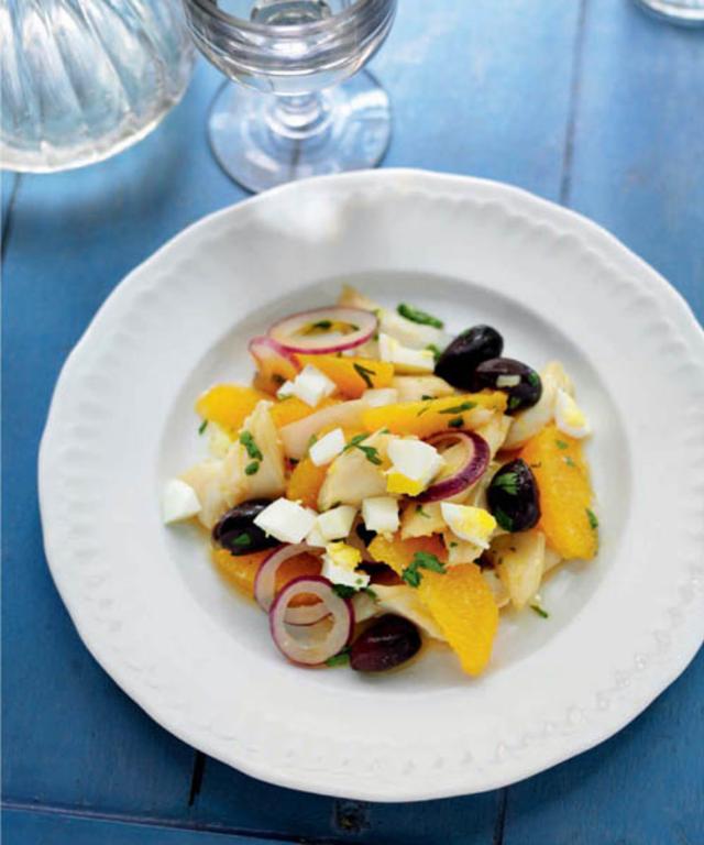 Orange, Salt Cod and Black Olive Salad