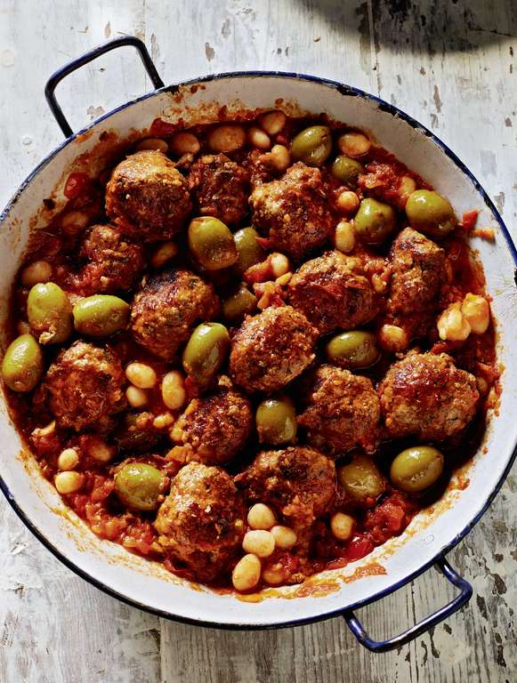 Rick Stein's Beef and Pork Meatballs in a Tomato and 'Piment' Sauce