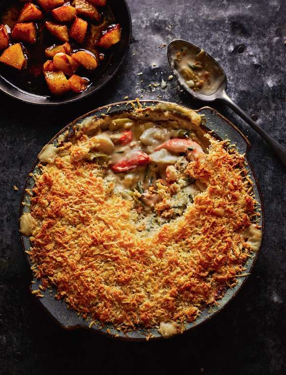 Rick Stein's Seafood Gratin with Caramelised Apples
