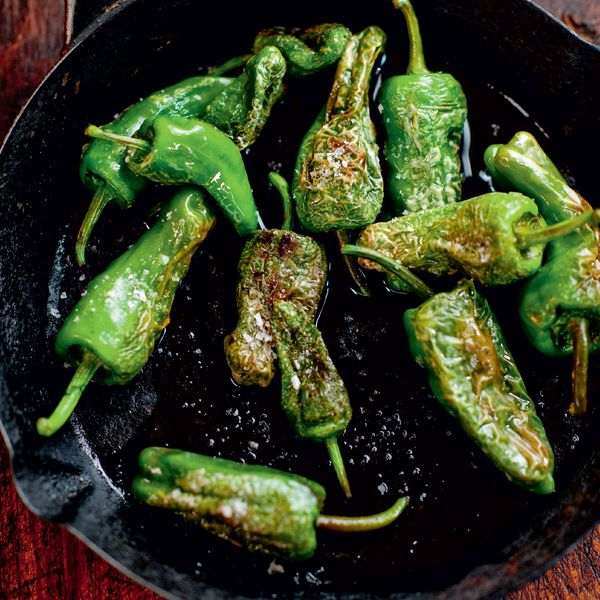 Olive Oil Fried Baby Green Peppers Pimientos De Padr 243 N