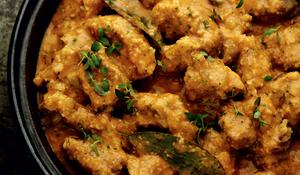 Pork in Almond Sauce (Carne en salsa de almendras)