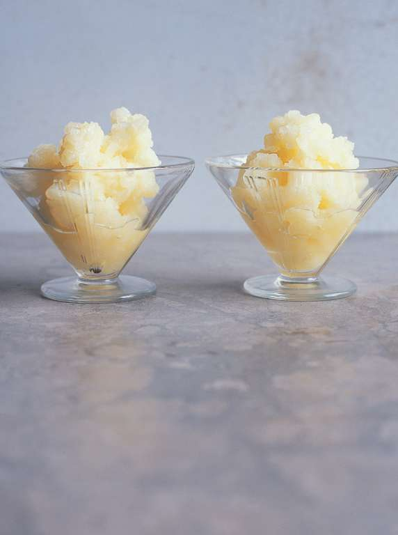 Pear and Lemon Granita