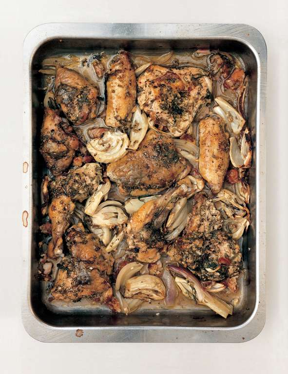Guinea Fowl with Fennel