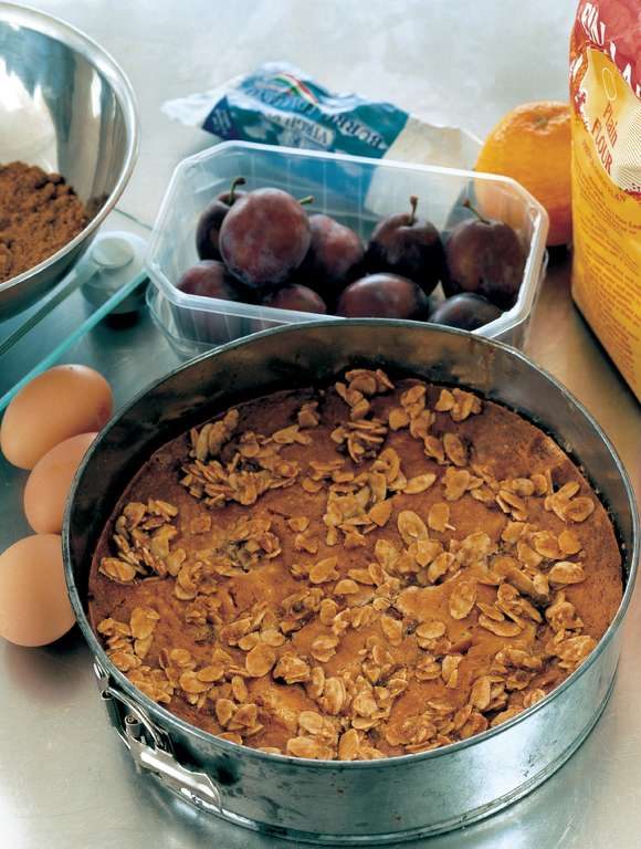 Plum and Orange Almond Cake