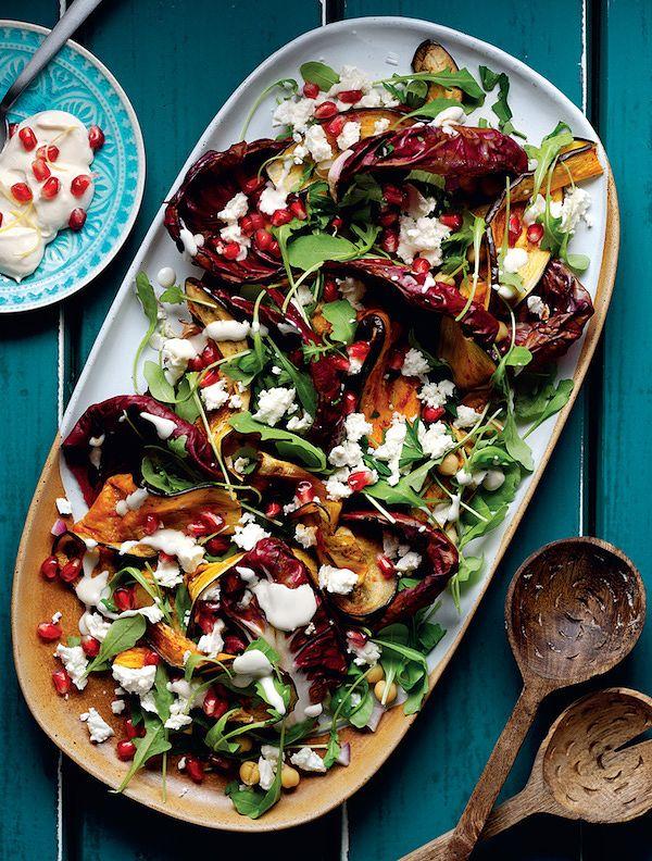 aubergine chickpea salad recipe from the aubergine cookbook