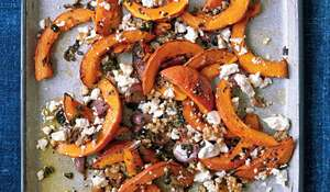 Roast Pumpkin with Feta and Oregano