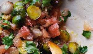 Roasted Brussels Sprouts with Pomelo and Star Anise