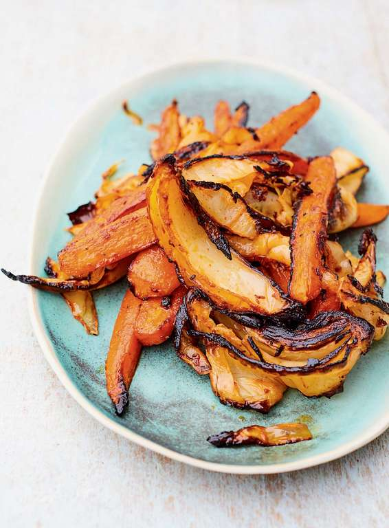 Meera Sodha's Roasted Carrot and Cabbage with Gochujang