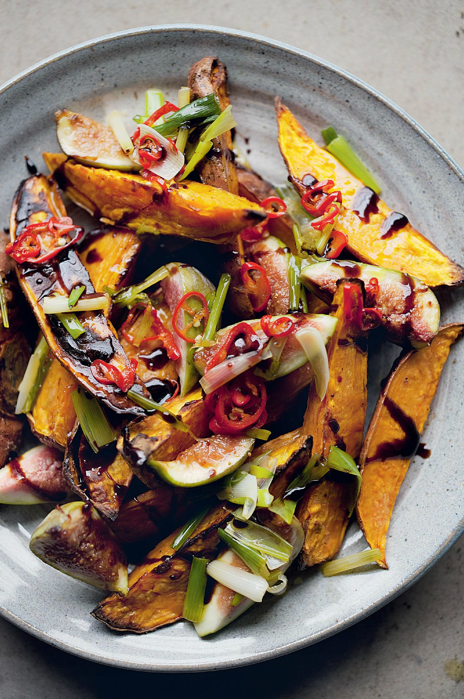 Roasted Sweet Potatoes and Fresh Figs - The Happy Foodie