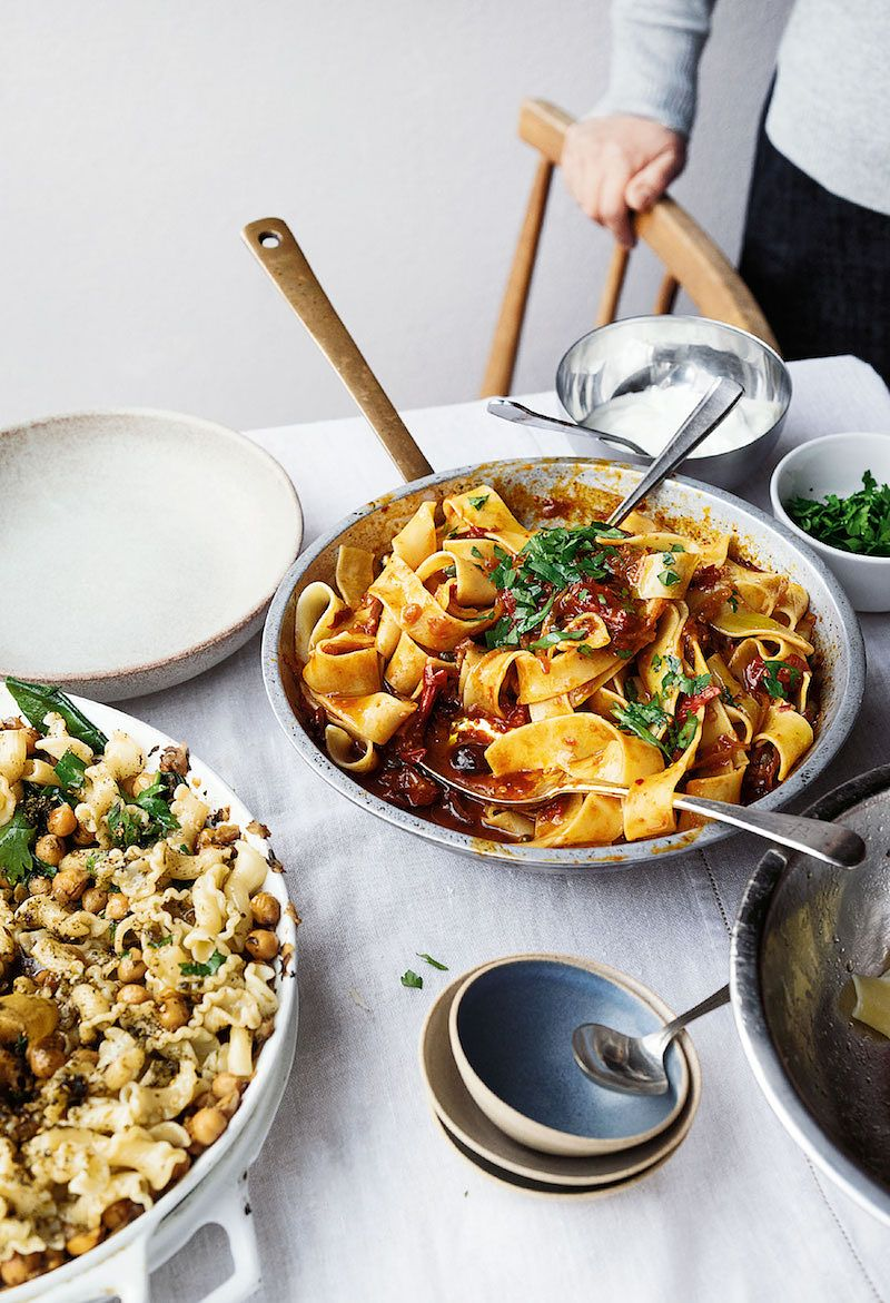 best ottolenghi harissa recipes pappardelle with rose harissa black olives and capers ottolenghi simple