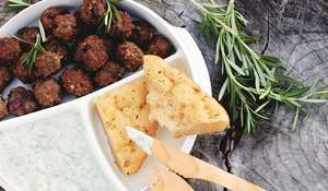 Rosemary and Olive Meatballs with Fennel Tzatziki from The Lunchbox Book