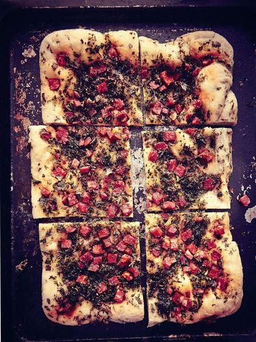 Chorizo and Kale Flatbread