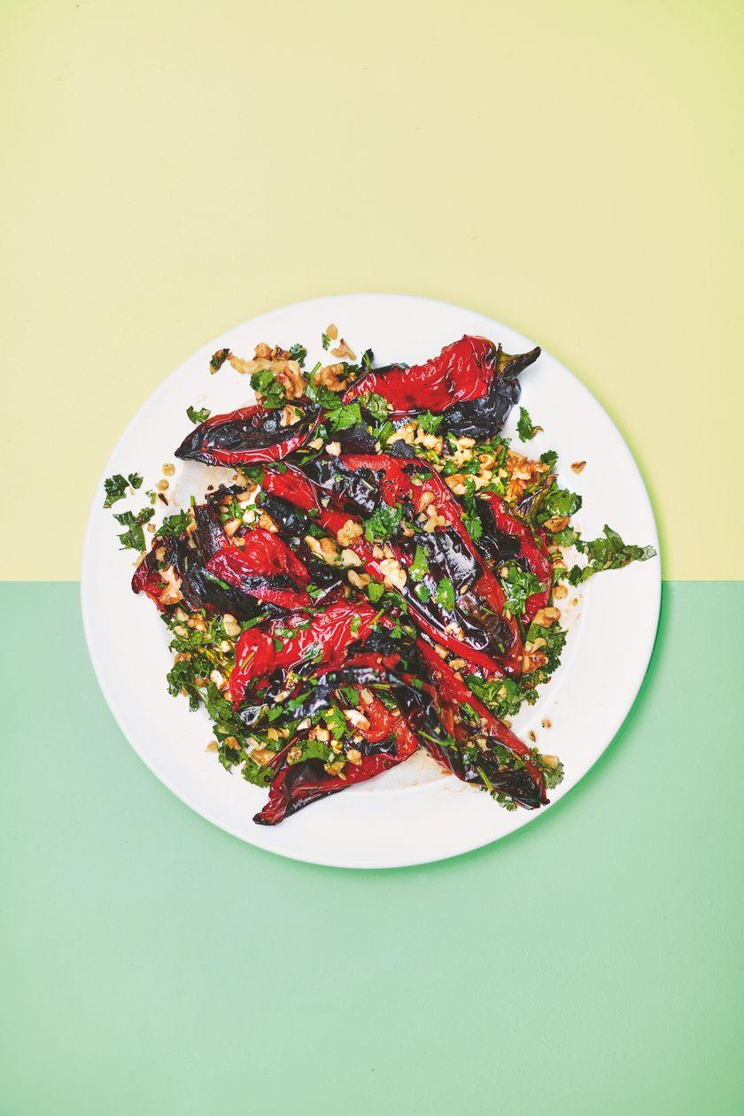 Rukmini Iyer Blackened Peppers | Easy Vegan Barbecue Recipe