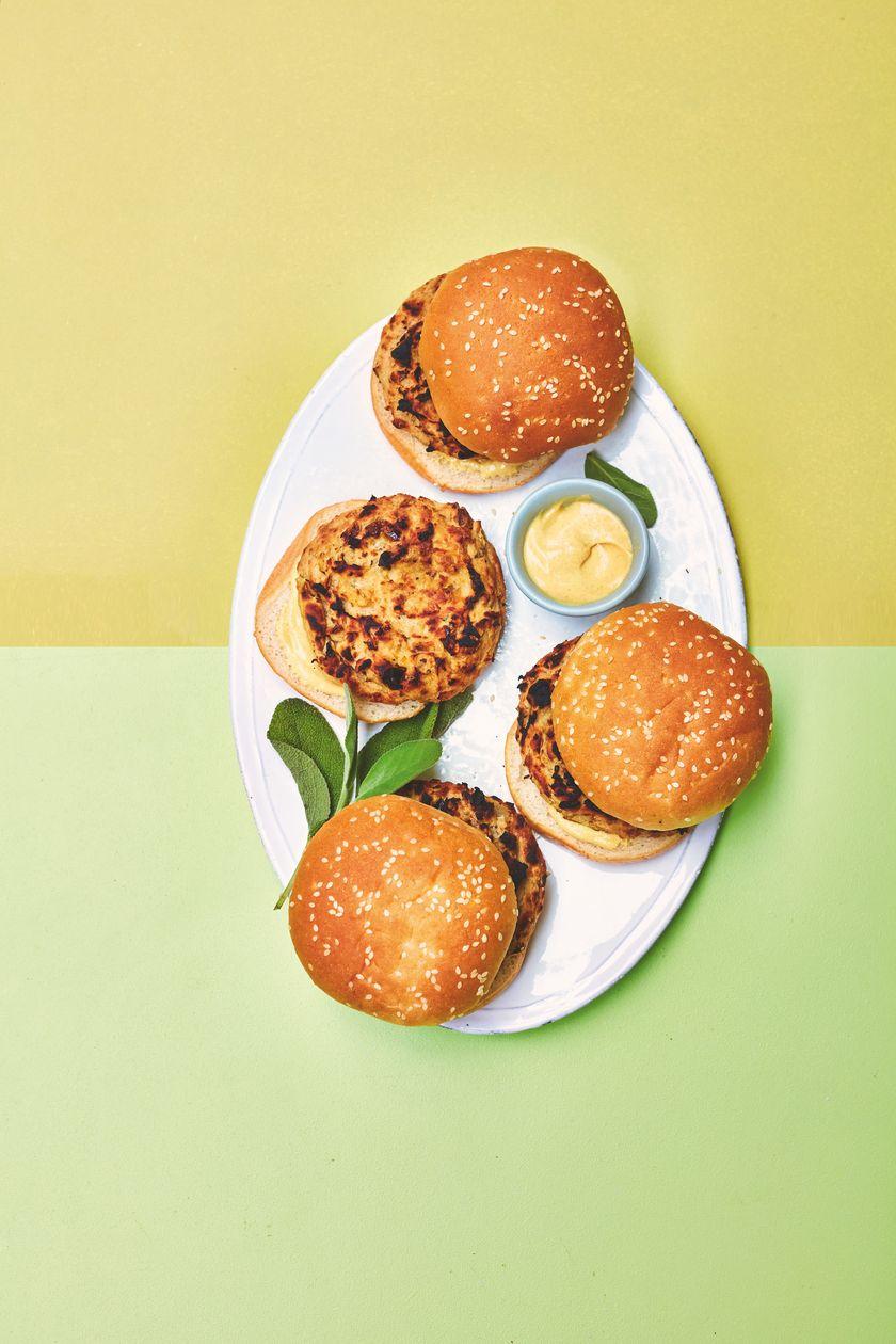 Rukmini Iyer Sage and Cannellini Burgers | Easy Vegan Barbecue Recipe