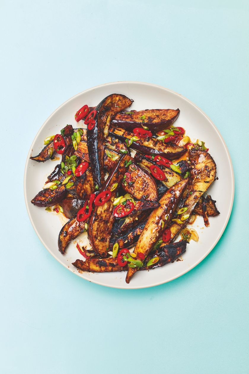 Rukmini Iyer Sichuan Aubergine with Black Bean Sauce | Easy Vegan Barbecue Recipe