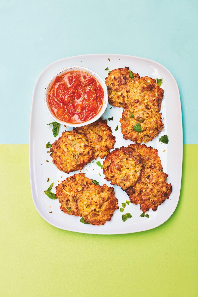 Rukmini Iyer Sweetcorn Fritters | Easy Vegan Barbecue Recipe