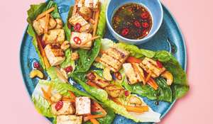 Crispy Barbecue Tofu Lettuce Wraps | Easy Vegan Barbecue Recipe