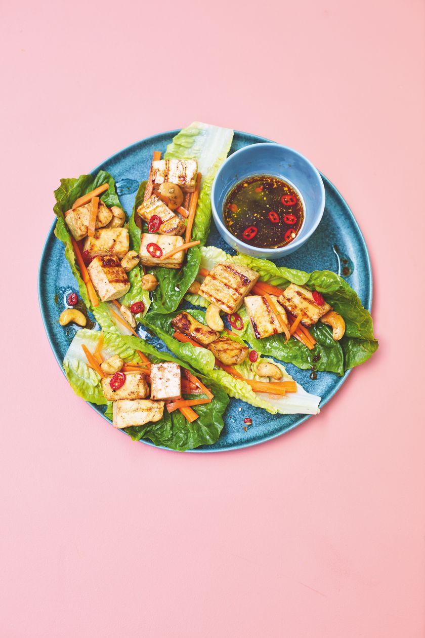 Rukmini Iyer Tofu Lettuce Wraps | Easy Vegan Barbecue Recipe