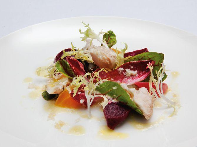Mixed Beetroot Salad with Smoked Mackerel