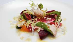 Mixed Beetroot Salad with Smoked Mackerel