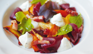 Winter Salad with a Goat's Cheese Mousse