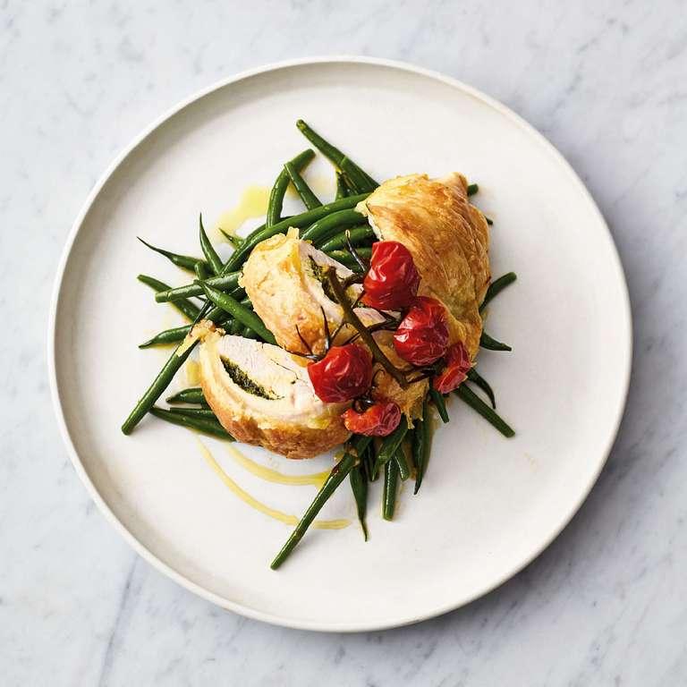 Jamie Oliver's Flaky Pastry Pesto Chicken