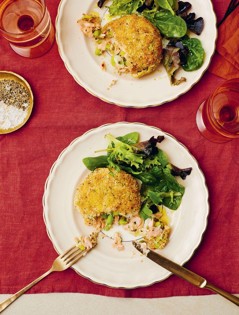 Candice Brown Comfort Food Recipes   Salmon and Edamame Bean Fishcakes